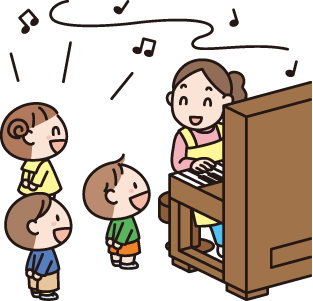 音楽表現(ピアノ・ギター、アコーディオン)