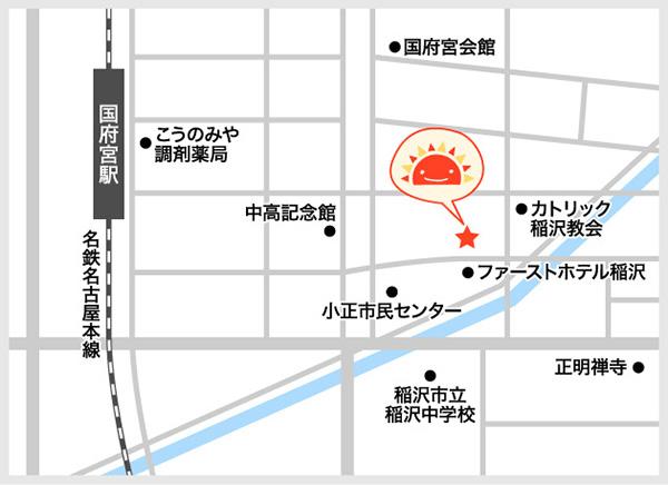 サンライズキッズ保育園 国府宮園 周辺地図