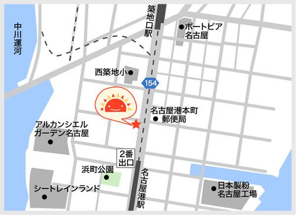 サンライズキッズ保育園 名古屋港園 周辺地図